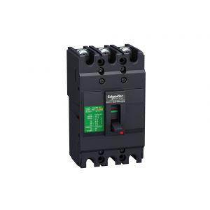 MCCB - EasyPact EZC,EZC250F3125,125A,18kA,3Pole MCCB