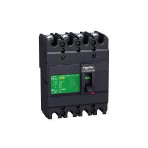 MCCB - EasyPact EZC,EZC100H4050,50A,30kA,4Pole MCCB