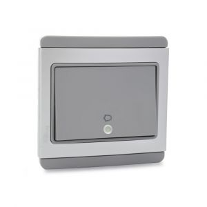 4A 1 Way Horizontal Bell Push - Grey