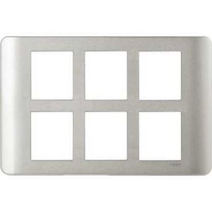 ZENcelo India - 12 Module Grid and Cover frame - Satin Silver