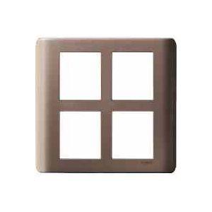 ZENcelo India - 8  Module Grid and Cover frame - Square - Silver Bronze