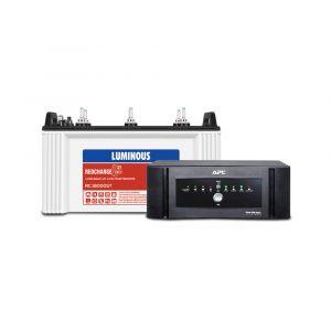 Combo Pack : APC Home UPS 850VA Sine Wave+Luminous RC 18000ST