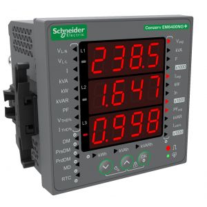 EM6400NG+ Conzerv Power and Energy meter - instantaneous, pulse output, THD, Class 1.0