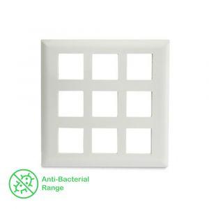 18 Module Grid & 18 Module Cover Frame - White