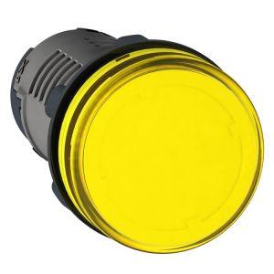 Dia 22, pilot light, 110V DC, yellow